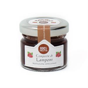 RASPBERRIES COMPOTE 100% FRUIT 28 G.