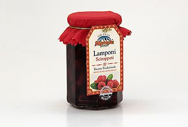 RASPBERRIES IN SYRUP 330 GR.