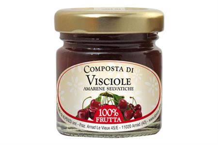 SOUR CHERRY COMPOTE 100% FRUIT 40 GR.