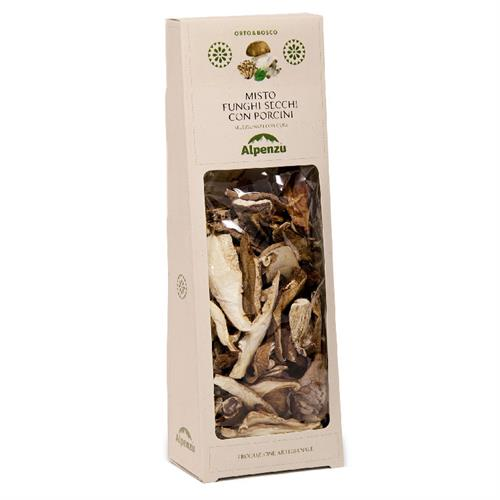 MIXED DRIED MUSHROOMS WITH PORCINI MUSHROOMS 100 G.