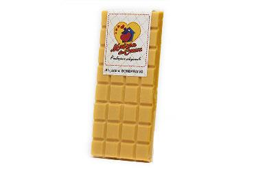 BAR OF WHITE CHOCOLATE WITH EGGNOG 100 GR.