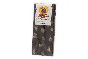 DARK CHOCOLATE WITH GINGER 100 GR