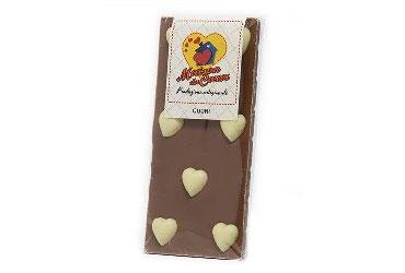MILK CHOCOLATE AND HEART OF WHITE CHOCOLATE 100 GR