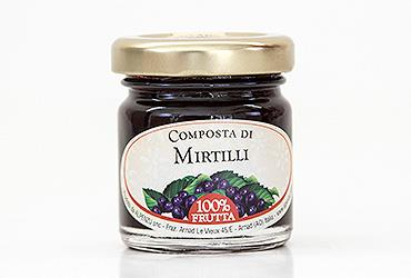 COMPOSTA DI MIRTILLI 40 GR 100% FRUTTA