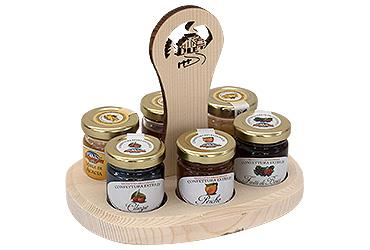 JARS HOLDER 3 JAMS 40 GR + 3 HONEY 35 GR.