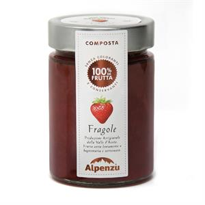 STRAWBERRIES COMPOTE 100% FRUIT 350 G.