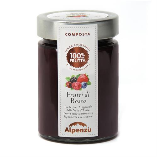 COMPOTE DE FRUITS DES BOIS 100% FRUIT 350 G.