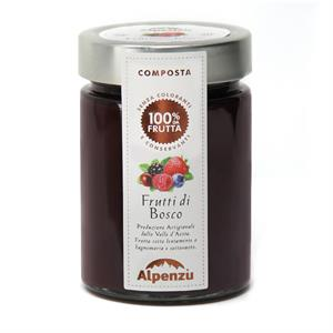 BERRIES COMPOTE 100% FRUIT 350 G.