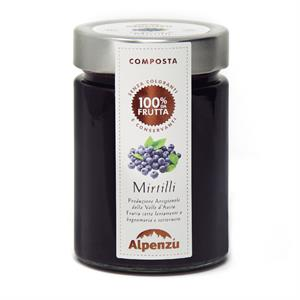 BLUEBERRIES COMPOTE 100% FRUIT 350 G.