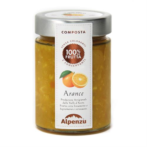 ORANGE COMPOTE 100% FRUIT 350 G.