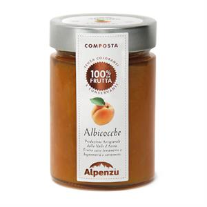APRICOTS COMPOTE 100% FRUIT 350 G.