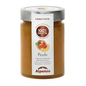 PEACHES COMPOTE 100% FRUIT 350 G.
